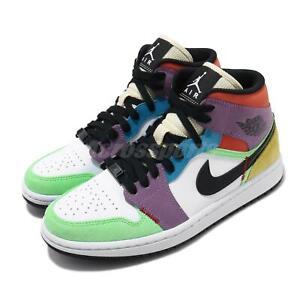 Detalles acerca de Nike Mujeres Air Jordan 1 Mid se Bombilla Pascua  Multi-color mujer AJ1 CW1140-100- mostrar título original