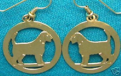 Otterhound  Gold Dangle Earrings by Touchstone