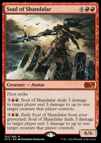 Creature Avatar Mythic SOUL OF SHANDALAR NM mtg M15 Red
