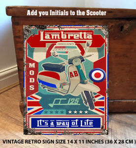 PERSONALISED-SCOOTER-MOD-WAY-OF-LIFE-Retro-Vintage-Metal-Wall-Sign