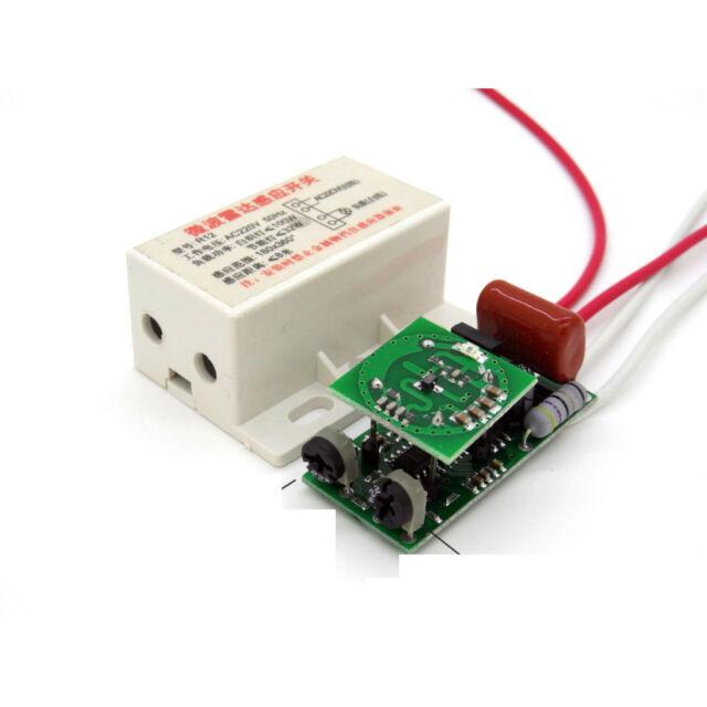 220V Auto Infrared Body Motion Sensor PIR Sensing Switch Microwave Radar Sensor