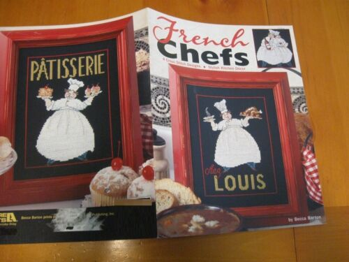 FRENCH CHEFS CROSS STITCH LEAFLETBOOK