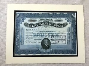 Americana-Ferrovia-Magazzino-Certificato-Pullman-Company-Treno-Carrozza-1920s