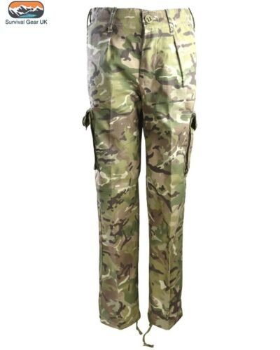 KOMBAT BTP KIDS MILITARY ARMY CAMOUFLAGE TROUSERS 12-13 Years FREE DELIVERY