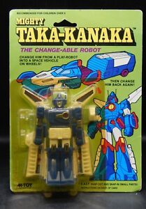 MOC-vintage-Mighty-Taka-Kanaka-transforming-robot-spaceship-XABUNGLE-ko-toy-RARE