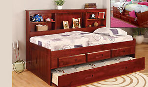 Discovery World Furniture Merlot Twin Size Bookcase Day Bed