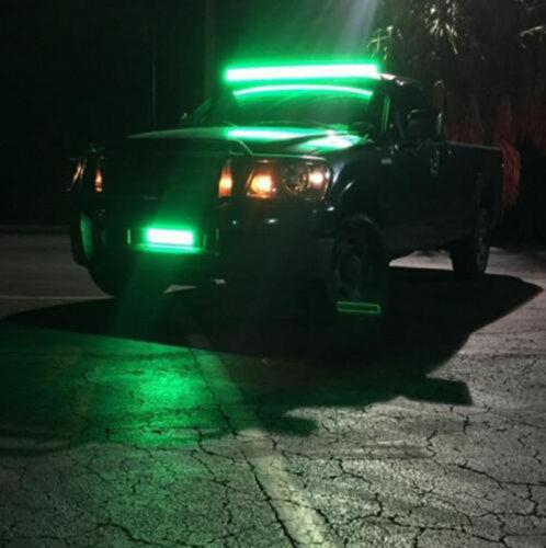 "Wiring 32/"" inch 180W 5D RGB Led Curved Offroad ATV Light Bar Bluetooth Control"