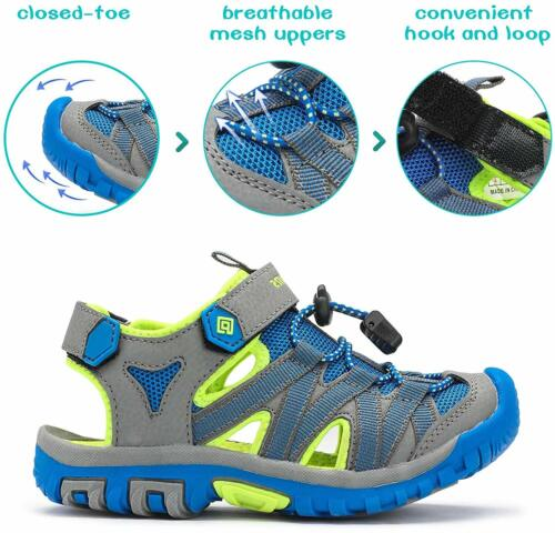 Kids Toddles Boys Girls Outdoor Sports Sandals Closed toe Summer Athletic Sandal