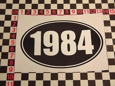 1984 Birthday Year Sticker - Fun Cheap Funny Comedy Present Gift Joke Party