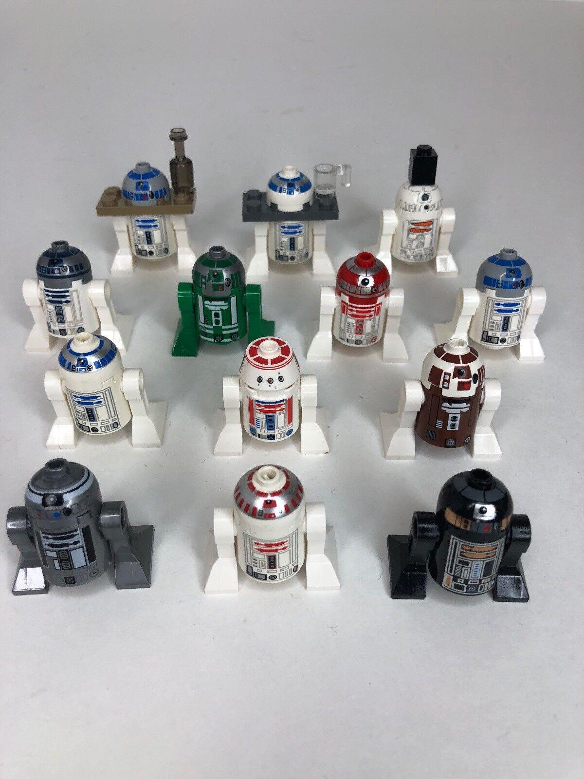 LEGO STAR  WARS Lot of 13 Minifigures Astromech droïdes R2-D2 R2-Q5 plus  M  authentique