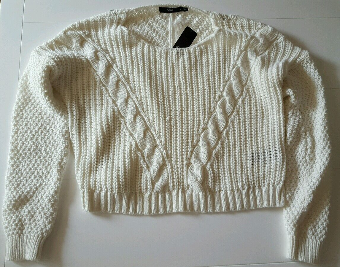 Sportsgirl Brand New With Tag women Lady's White Knitwear Size M Paid
