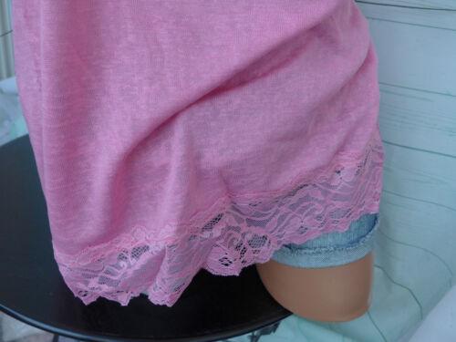 533 NoSecret Shirt Top Gr.46 bis 54 Rosa mit Spitze große Größe