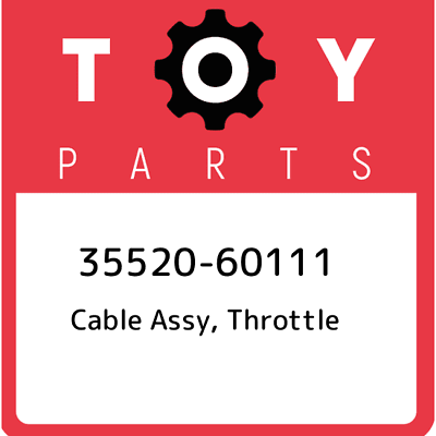 THROTTLE 35520-35220 3552035220 Genuine Toyota CABLE ASSY