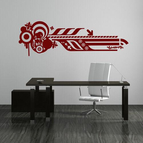 Wandtattoo Abstrakt Retro Art Aufkleber Wall Art Wand Tattoo #2095
