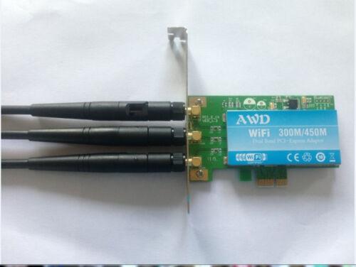 3 antenna for Atheros AWD AR9380 wireless wifi Desktop Pcie  card N 450M 300M