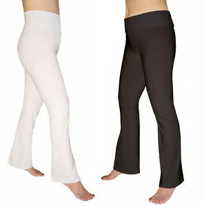 Women's Cotton Spandex Flare Yoga Pants | eBay