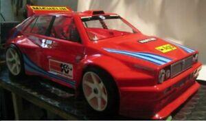 Carrozzeria-BODY-1-8-Lancia-Delta-HF-Alettone-da-verniciare-Rally-adesivi