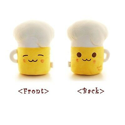 Beer Food Cotton Plush Doll Toy : 2 different Face