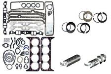 CHEVY SBC CAR TRUCK 350 5.7L ENGINE RERING REMAIN KIT BEARINGS GASKETS RINGS