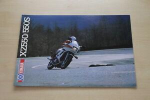 Yamaha Xz 550 550 S Prospekt 01/1983 Vertrieb Von QualitäTssicherung Geschickt 170584 Auto & Verkehr