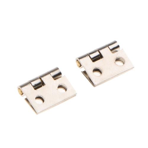 Mini Metall Scharniere mit Schrauben für Puppenhaus 24tlg