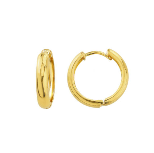 Damen 375 Gold Ohrringe Creolen Ohrschmuck Clips 9 Karat Gelbgold Schmuck 2102