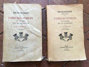 Champeval Dizionario Delle Famiglie Nobili E Notabili Della Corrèze Tulle 1911
