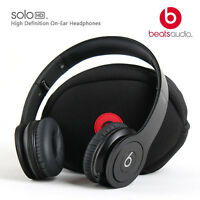 Beats By Dr. Dre Solo Hd Monochrome Black Headband Headphones - Matte Black