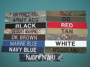 Details about Military Name Tapes Custom Design Army Paintball Marine Civil  Air Patrol Crafts