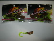 Leland Lures Slab Curly jigs 2 packs  black and chart