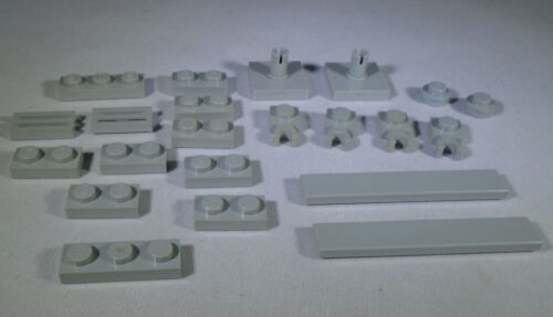LEGO Light Gray Plates Tiles from 4480 Jabba/'s Palace 3023 3623 4085 4073 6636