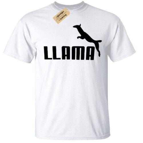 Kids Boys Girls LLAMA Funny T-Shirt slogan sports parody llamas