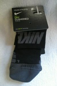 Nike-Young-Athletes-Dry-Cushioned-Socks-5-7-Years-Black-New