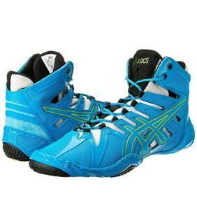 Details About Asics Omniflex Men S Wrestling Shoes Color Blue Jewel Lime Silver
