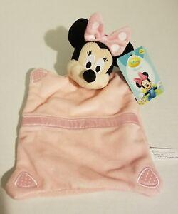 Disney-Baby-Minnie-Mouse-Pink-Binky-Blankie-Plush