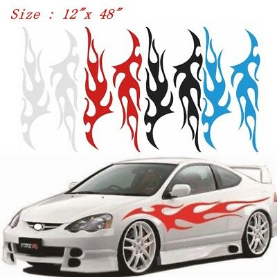 """Flame Auto Graphic decal large 9/""""x 48/"""" flaming body car truck vinyl flames v29"""