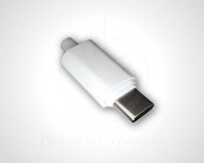 USB 3.1 Type C Stecker, Ladestecker Lötmontage 24 Kontakte, 4 Anschlüsse weiß