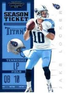 2012 Playoff Contenders Season Ticket #96 Jake Locker Titans NM-MT