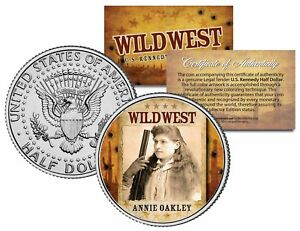 ANNIE-OAKLEY-Wild-West-Series-JFK-Kennedy-Half-Dollar-U-S-Coin