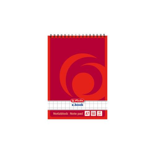 kariert DIN A7 10x Herlitz Spiral-Notizblock Schreibblock