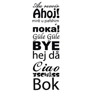 Banner Bye Sprachen 2 Wandtattoo Auf Wiedersehen Sprachen Aufkleber ...