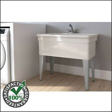 Beautiful Utility Sink With Legs Laundry Room Dog Wash Tub Basin Pull Out Faucet  Large Pet