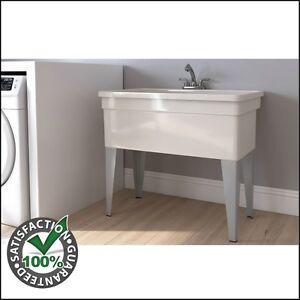 Utility sink with legs laundry room dog wash tub basin pull out utility sink with legs laundry room dog wash solutioingenieria Choice Image