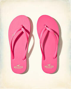 HOLLISTER Rubber Flip Flops Size Small (US 7/8) **Brand New** Sandals Slippers