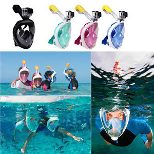 Full-Face-Snorkel-Mask-Snorkeling-Mask-Breather-Pipe-Swimming-Adults-Kids-Gopro