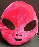 Hot Pink Alien Head Plush Pillow Decoration Toy Birthday Space Theme Event Party