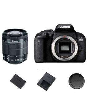 Canon T7i / 800D DSLR Camera Body w/ EF-S 18-55mm f/3.5-5.6 STM Lens