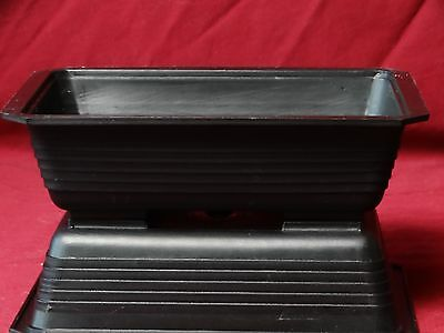 3 Pack Rectangular Black Plastic Bonsai Training Pots 7.5 x 5.5 x 2