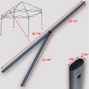 Image is loading Quik-Shade-Expedition-10-039-X10-039-Instant-  sc 1 st  eBay & Quik Shade Expedition 10u0027X10u0027 Instant Canopy 2 PEAK TRUSS Bars ...