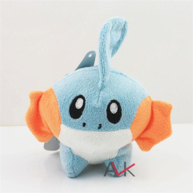 "6"" Cute Pokemon Mudkip Kids Toy Soft Plush Toy Stuffed Doll Toy Birthday Gift IB"